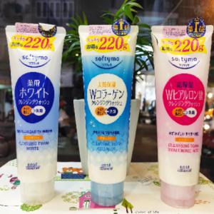 sữa rửa mặt kose softymo 220g