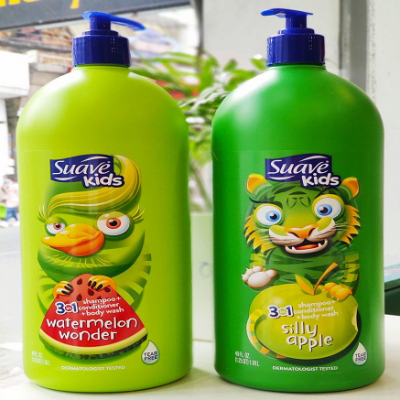sữa tắm suave kid 3 in 1